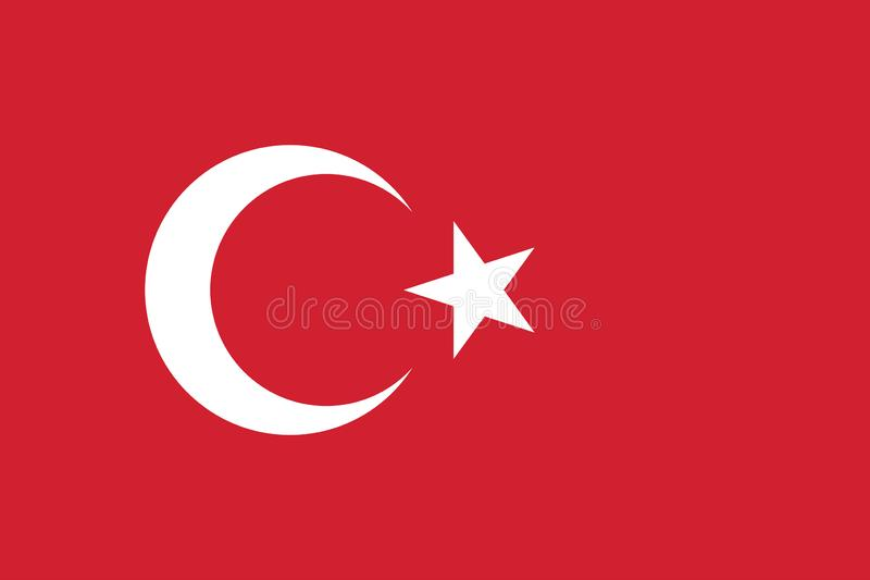 Vektor-Bild von die Türkei-Flagge vektor abbildung