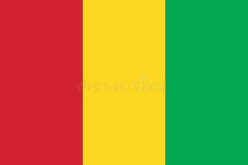 Vektor-Bild von Guinea-Flagge stock abbildung