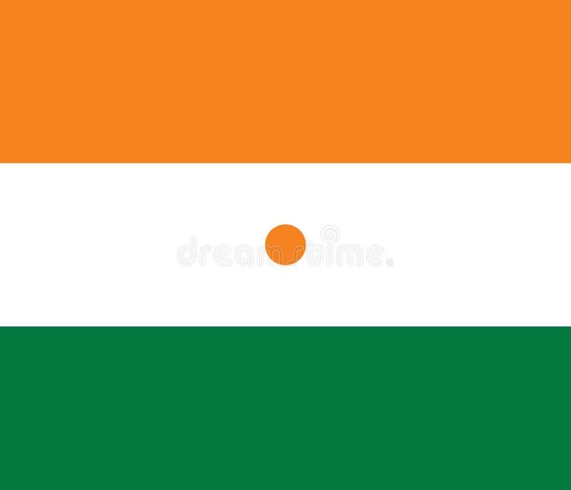 Vektor-Bild von Niger Flag lizenzfreie abbildung