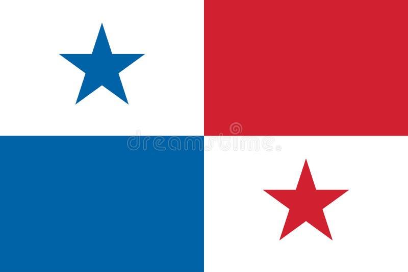 Vektor-Bild von Panama-Flagge stock abbildung