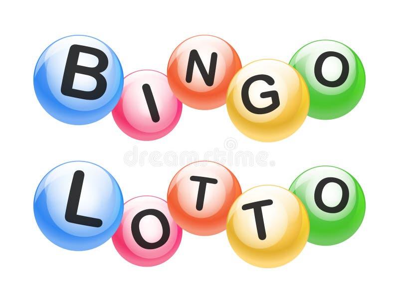 Vektor-Bingo-/Lotterie-Zahl-Bälle eingestellt vektor abbildung