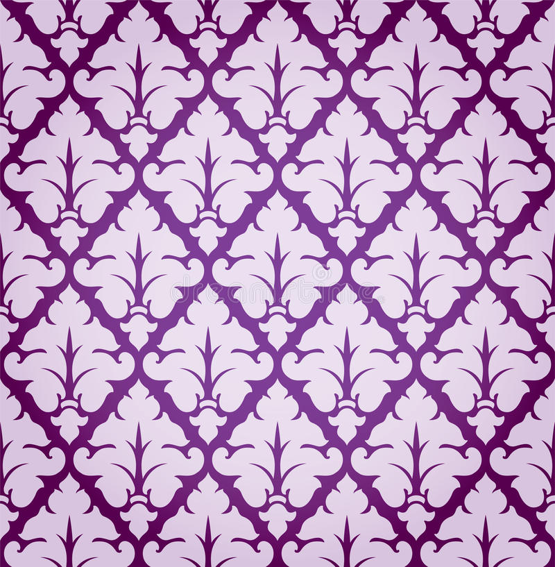 Vektor-Blatt-Damast-Hintergrund-Muster stock abbildung