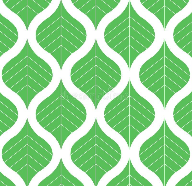 Vektor-Blatt-Muster-Schwarzweiss-Hintergrund-Illustration lizenzfreie abbildung