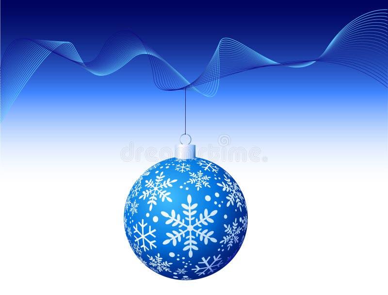 Vektor - blaue Weihnachtskugel lizenzfreie abbildung