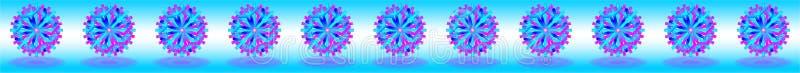Vektor-blaues purpurrotes Weihnachten spielt mit Schatten auf Unterseite, unten auf blauem weißem Hintergrund, als Stange, Fahne, stock abbildung
