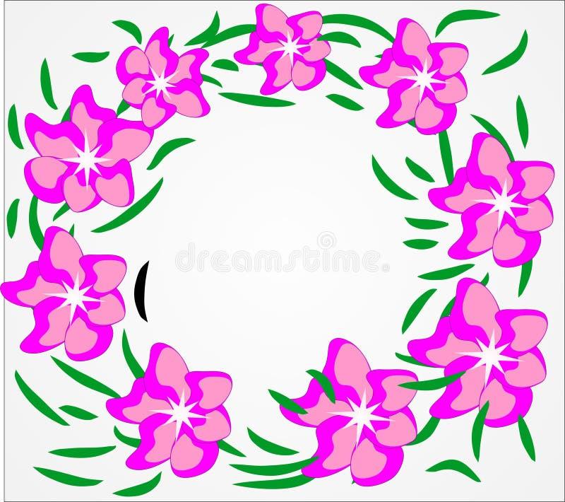 Vektor blommor, sommar, blom- bakgrund, ljusa färger, abstraktion för en blom- bakgrund royaltyfria bilder