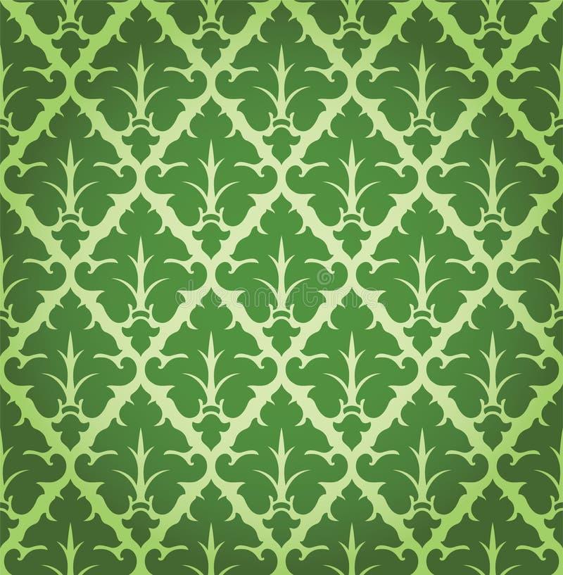 Vektor-Blumendamast-Hintergrund-Muster stock abbildung