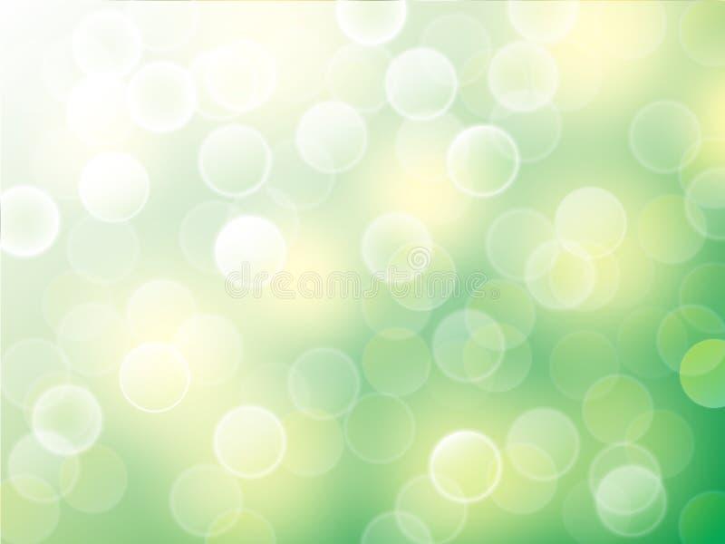 Vektor bokeh Zusammenfassungshintergrund auf Naturszene stock abbildung