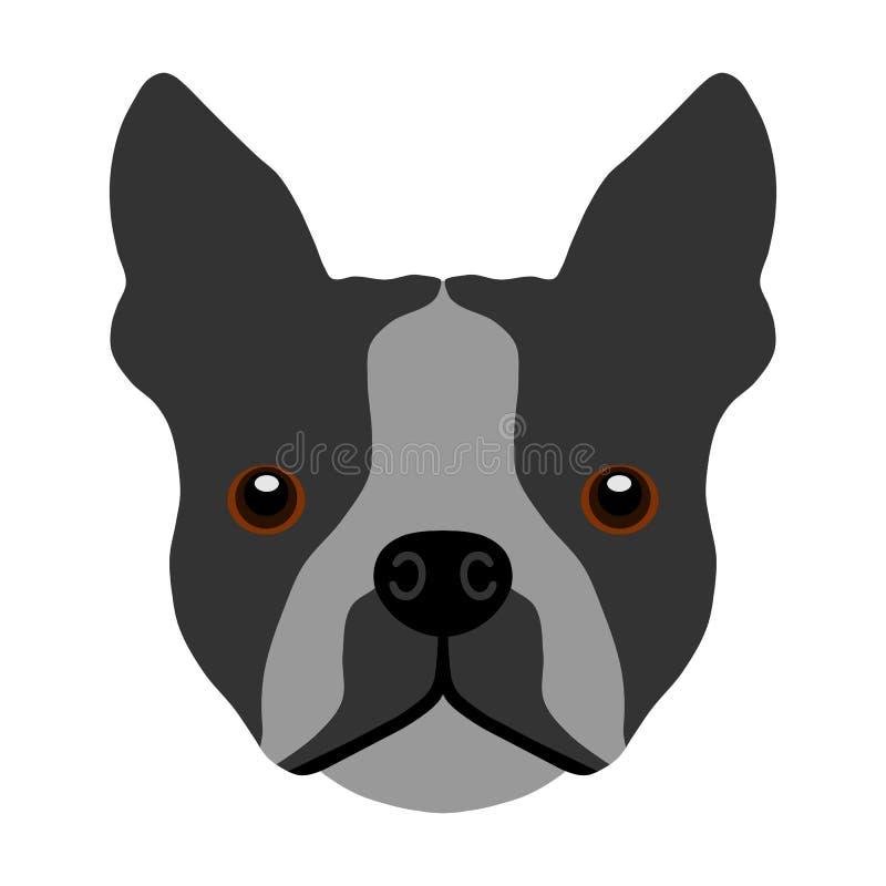 Vektor Bostons Terrier mehrfarbig stock abbildung