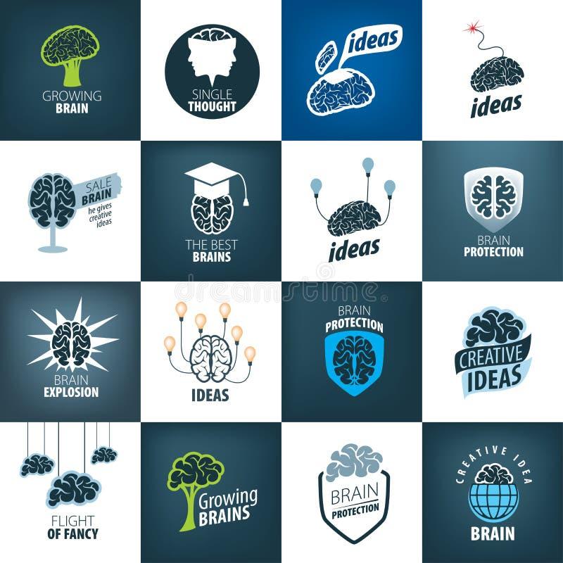 Vektor Brain Logo royaltyfri illustrationer