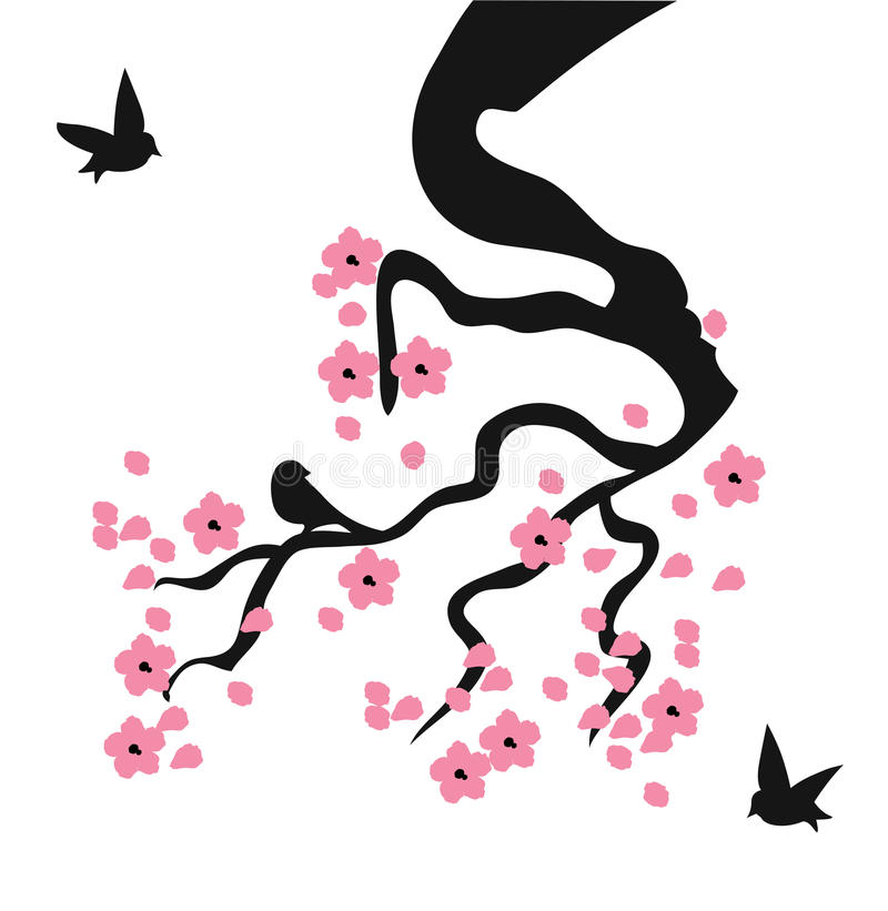 Vektor Cherry Blossom stock illustrationer