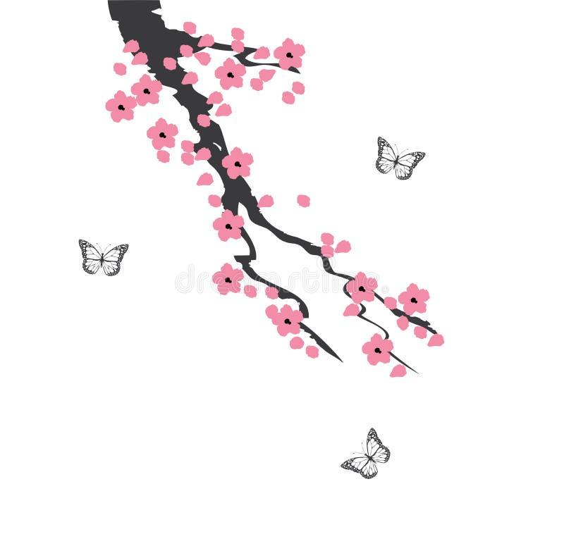 Vektor Cherry Blossom royaltyfri illustrationer