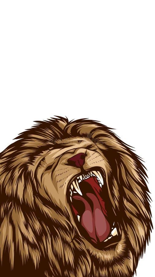 Vektor de Lion Vetora Singa imagem de stock royalty free