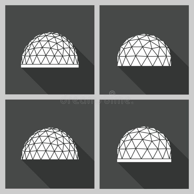 Geodätischen Kuppel vektor der geodätischen kuppel flach vektor abbildung bild 69489089