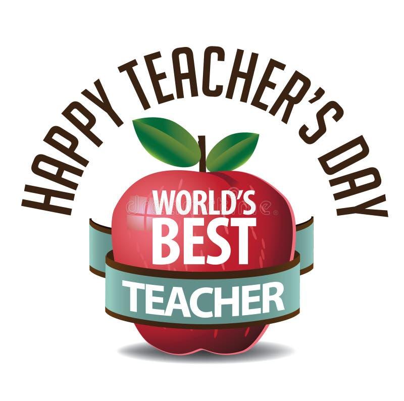 Vektor der Lehrer-Tagesikone ENV 10 lizenzfreie abbildung