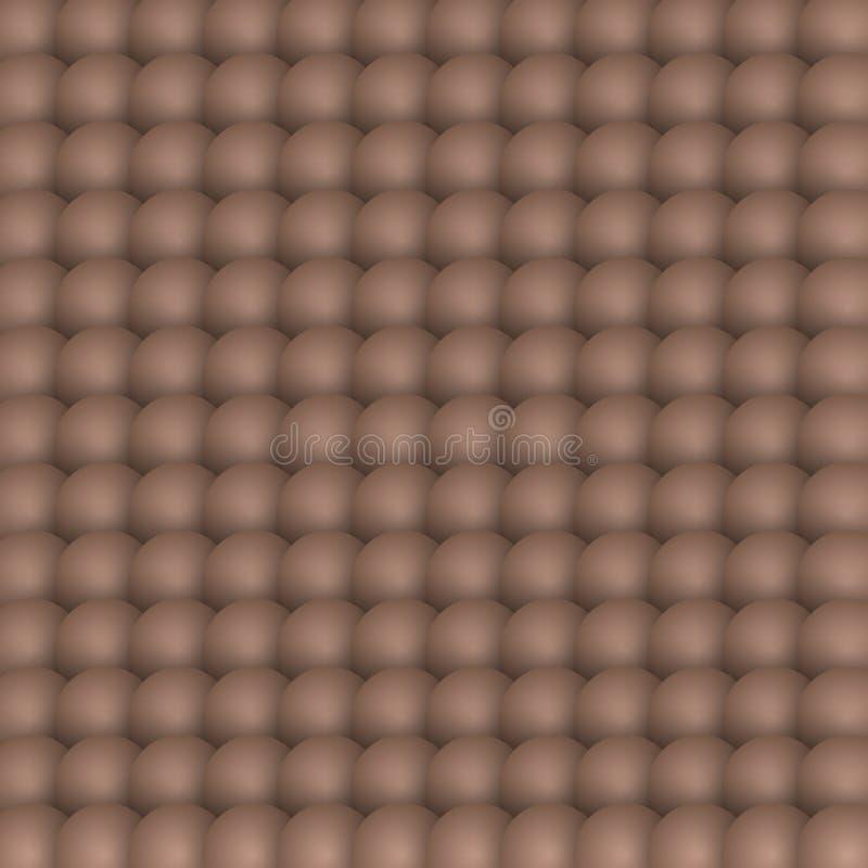Vektor der Mustereier 3D von der Draufsicht stock abbildung