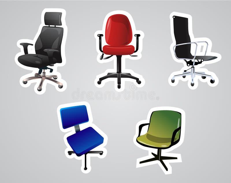 Vektor der Stühle lizenzfreie abbildung