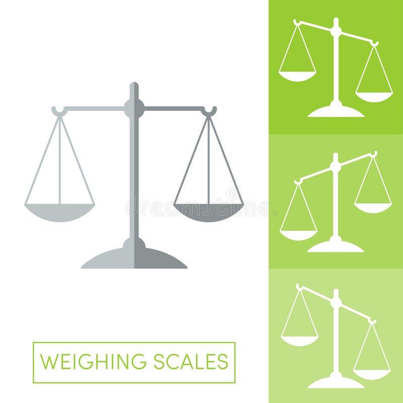 Vektor der wiegenden Skalen stock abbildung