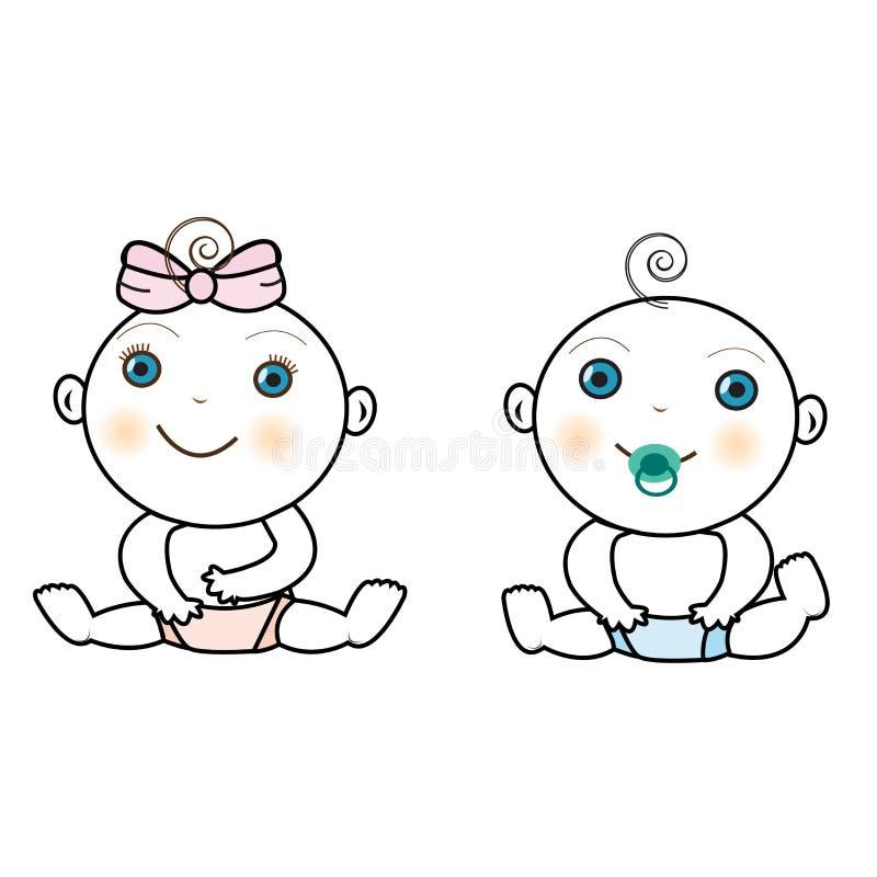 Vektor des Babys und des Babys lizenzfreies stockfoto