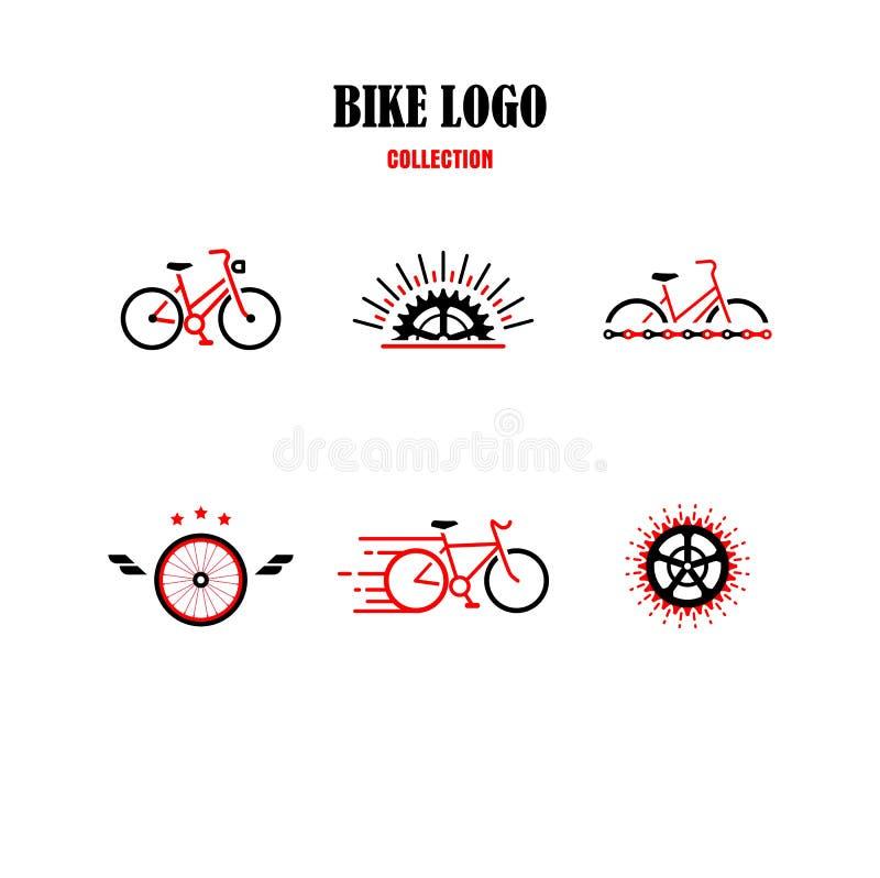 Vektor des Fahrrad-Logos, Zyklus Logo Collection lizenzfreie abbildung