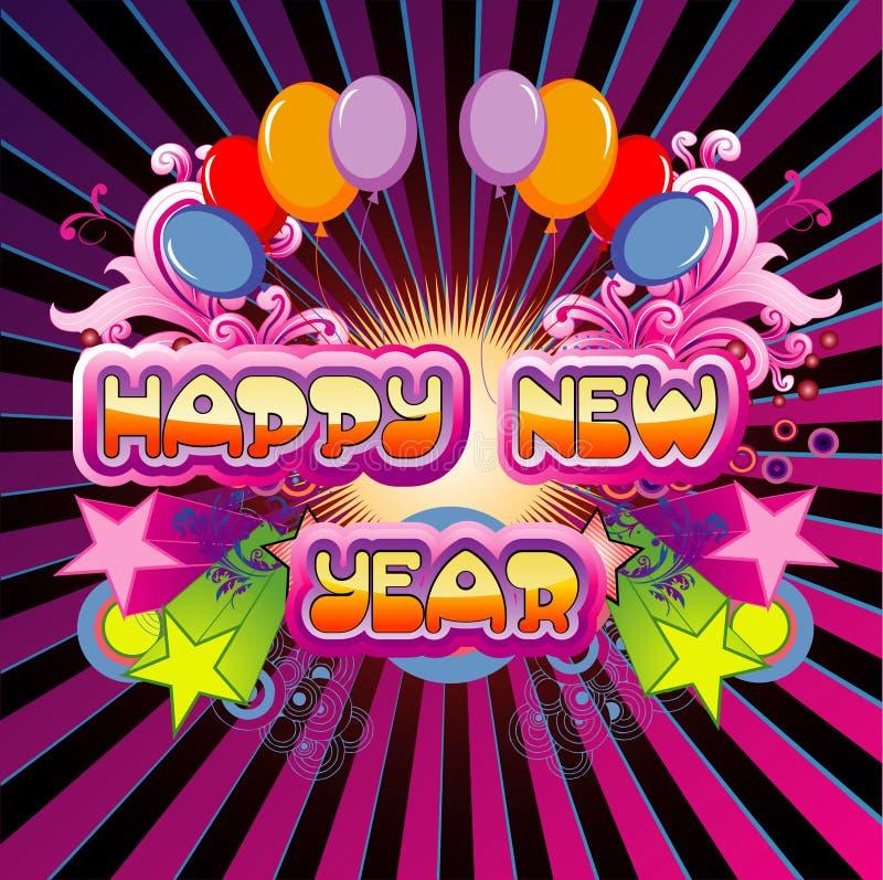 Vektor des glücklichen neuen Jahres stock abbildung