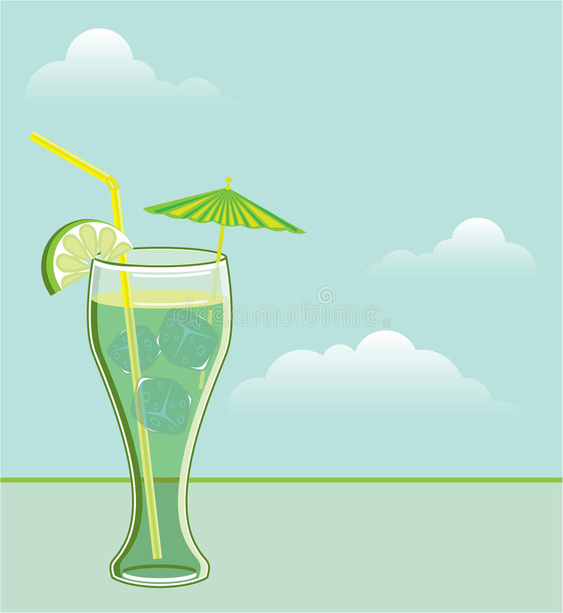 Vektor des kühlen Getränks lizenzfreie abbildung