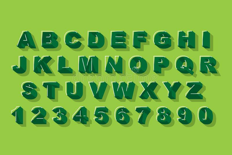 Vektor des modernen abstrakten Alphabetgusses Grafisches Plakat der Alphabetvektor-Art vektor abbildung