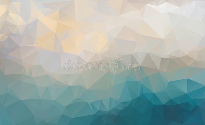 Vektor des modernen abstrakten polygonalen Hintergrundes lizenzfreie abbildung
