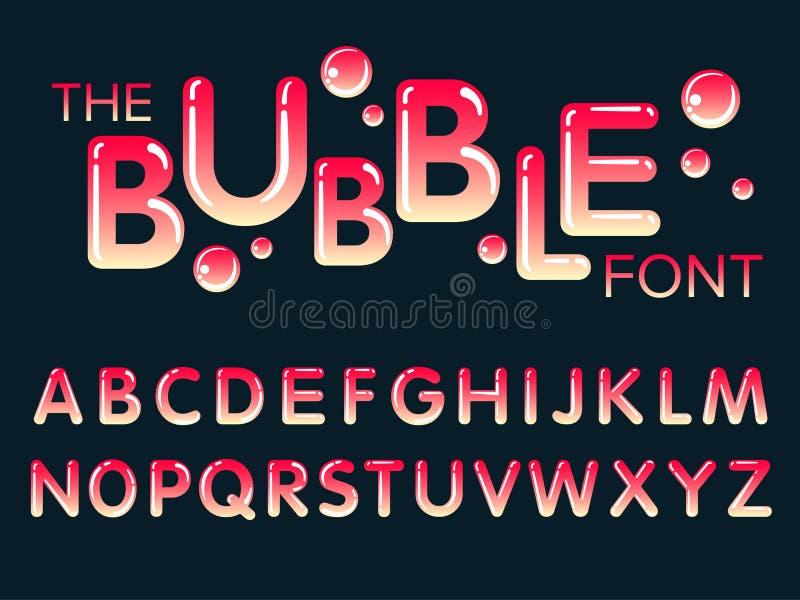 Vektor des modernen stilisierten Gusses und des Alphabetes stockfotos