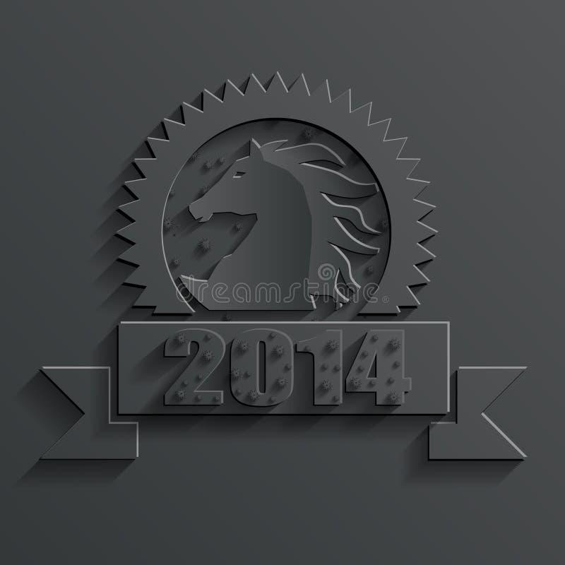 Vektor des neuen Jahres Pferde stock abbildung