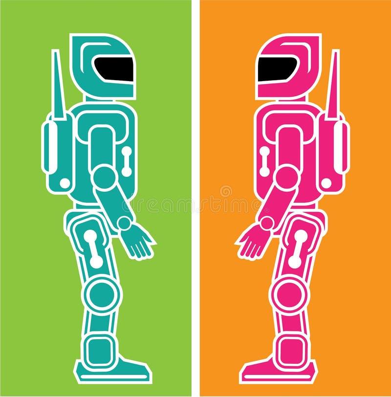 Vektor des Robotervektors ENV stock abbildung