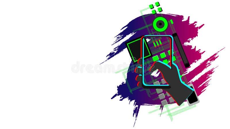 Vektor des Telefons 3D vektor abbildung