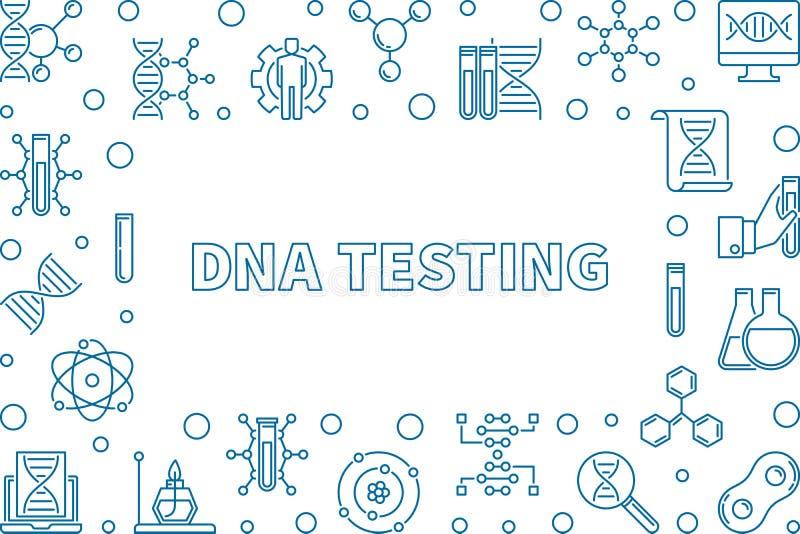 Vektor DNA, die horizontalen Rahmen des kreativen Entwurfs prüft stock abbildung