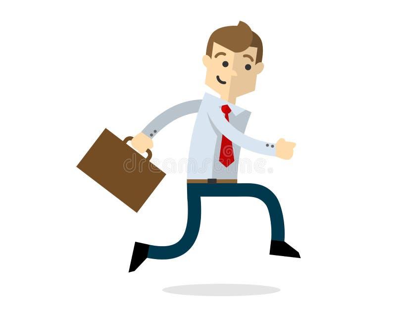 Vektor eines Geschäftsmannes gehen zum Büro oder gehen automatisch anzusteuern stock abbildung