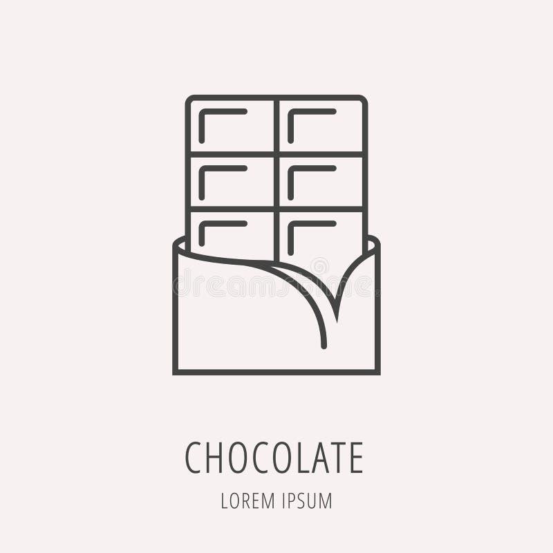 Vektor einfacher Logo Template Chocolate stock abbildung