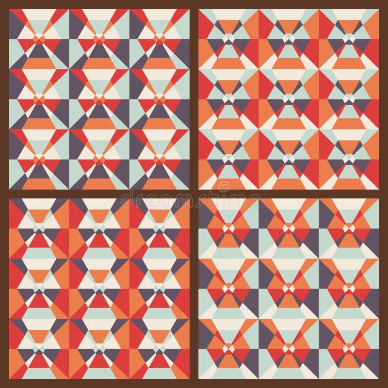 Vektor eingestellt: nahtlose geometrische Muster stock abbildung