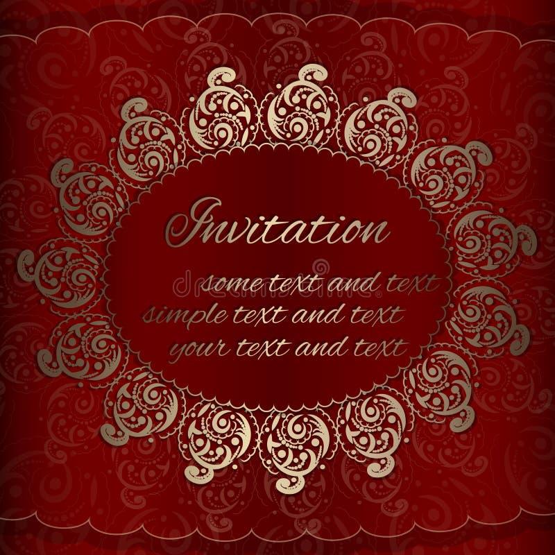 Vektor-Einladungskarte mit goldenen königlichen Verzierungen