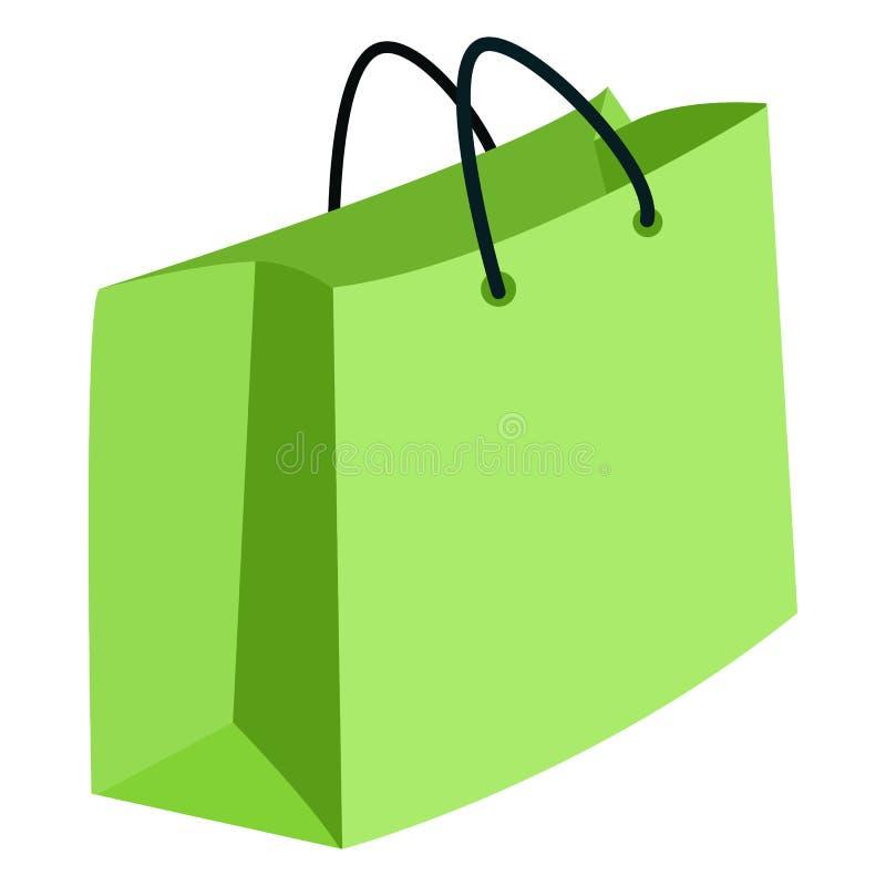Vektor-einzelne Illustration - Einkaufstasche auf weißem Hintergrund lizenzfreie abbildung