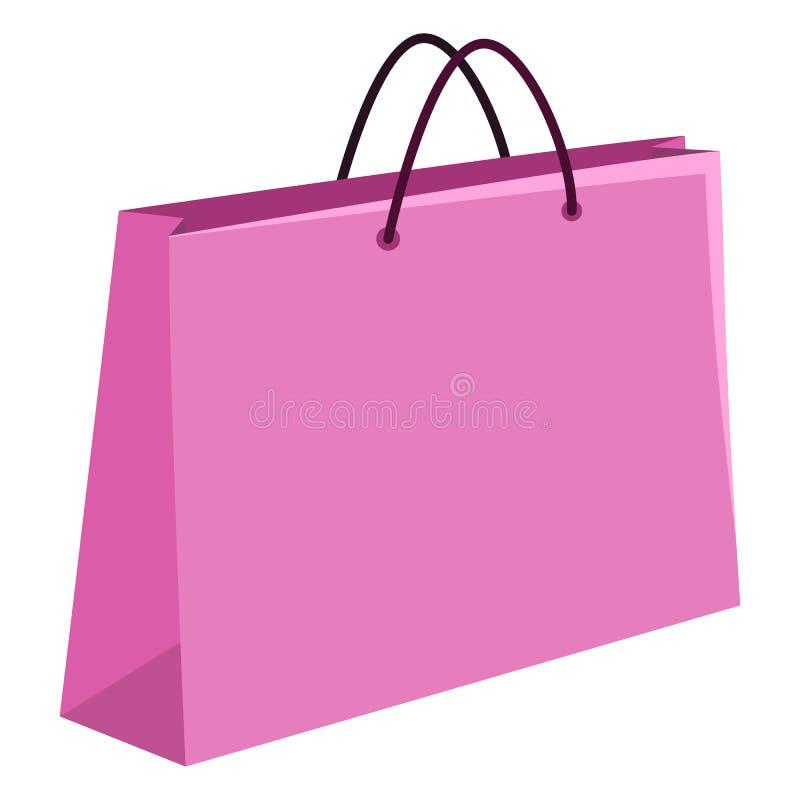 Vektor-einzelne Illustration - Einkaufstasche auf weißem Hintergrund stock abbildung