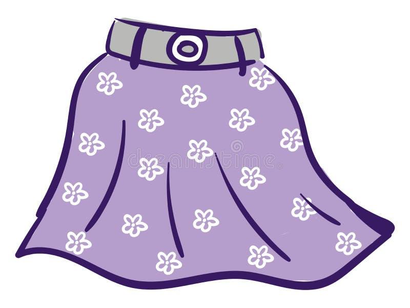 Vektor eller illustration av färg för Floral violett skirt vektor illustrationer