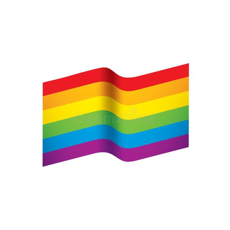 Vektor en regnbågeflagga royaltyfri illustrationer