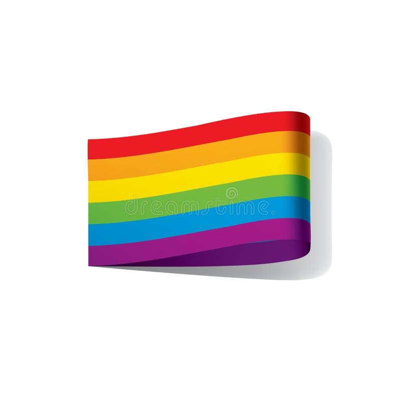 Vektor en regnbågeflagga stock illustrationer