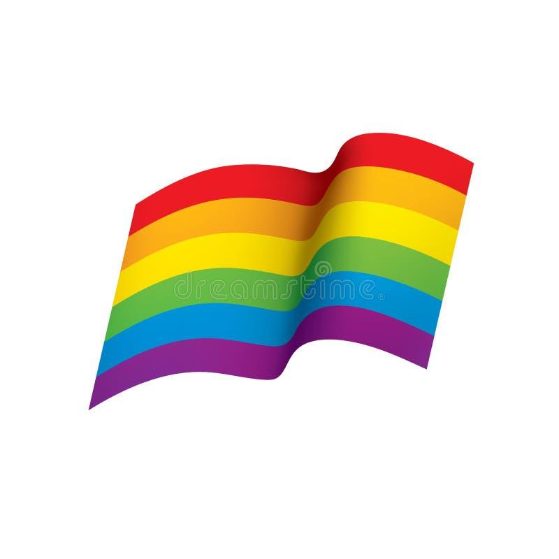 Vektor en regnbågeflagga vektor illustrationer