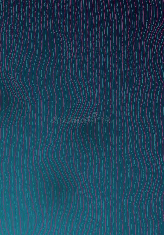Vektor-Entzerrer-Frequenz-Störschub-Effekt Schallwelle-Verzerrungs-Hintergrund Digital stock abbildung