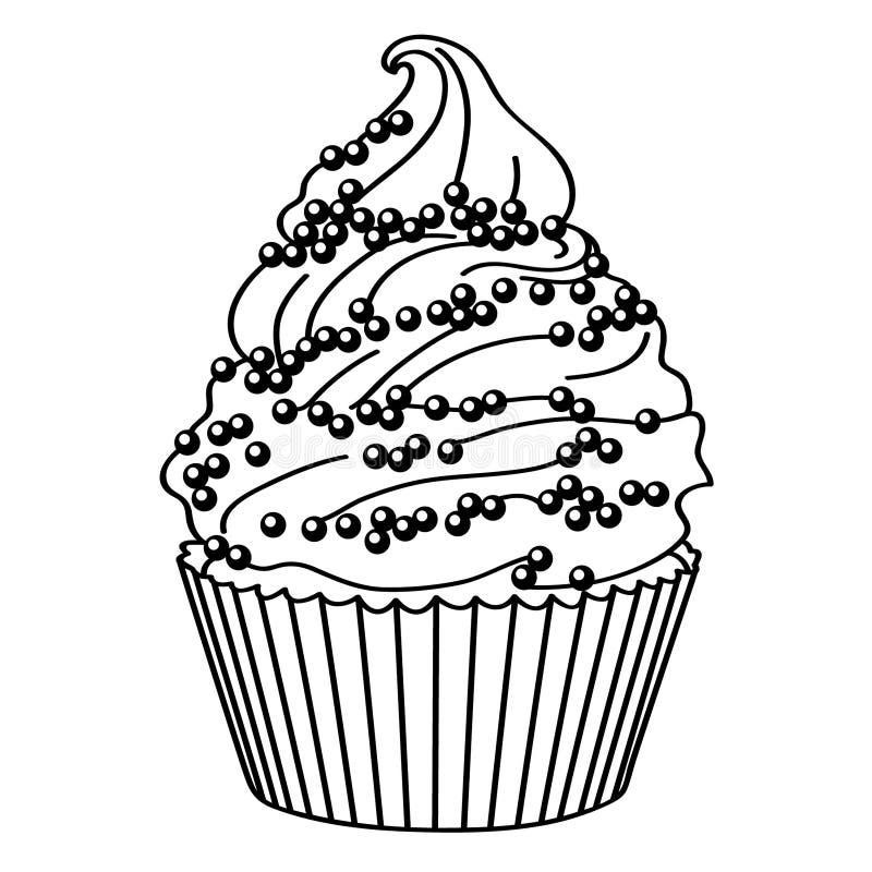 Vektor ENV des kleinen Kuchens Hand gezeichnet, Vektor, ENV, Logo, Ikone, crafteroks, Schattenbild Illustration f?r unterschiedli vektor abbildung