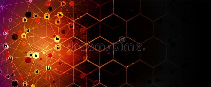 Vektor ENV 10 Digitaler Hintergrund der modernen Sicherheit lizenzfreie abbildung