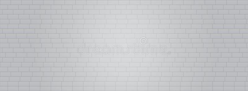 Vektor eps10 för bakgrund för vektor för Grey White tegelstenvägg Illustration för Grey Brick väggtapet royaltyfri illustrationer