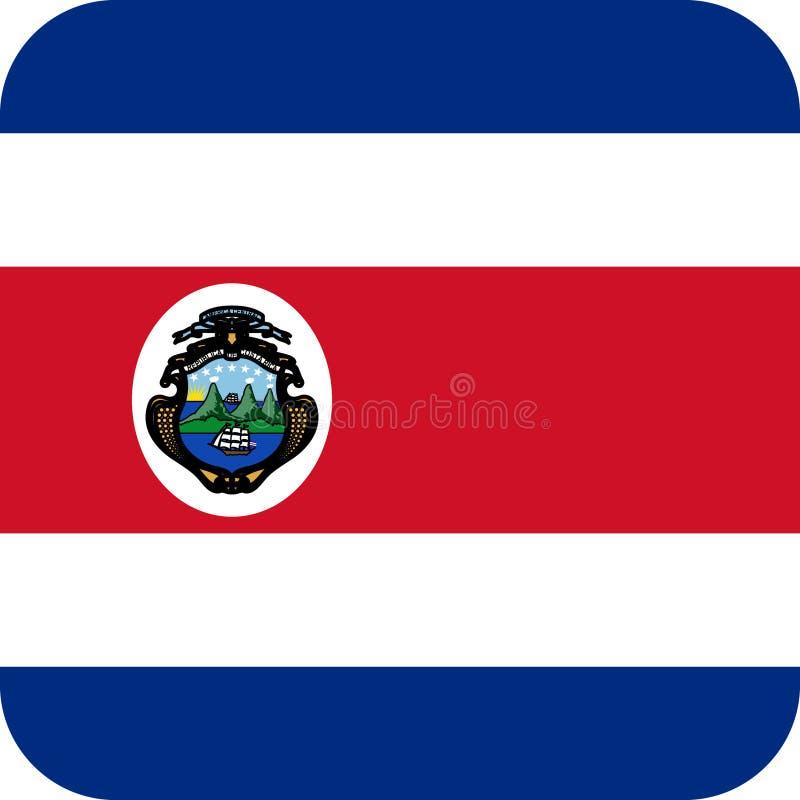 Vektor eps för flaggaCosta Rica illustration stock illustrationer