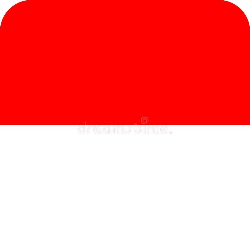 Vektor eps för flaggaIndonesien illustration vektor illustrationer
