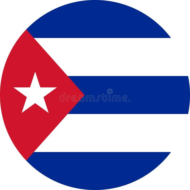 Vektor eps för Kubaflaggaillustration stock illustrationer